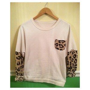 Cheetah Accent Pullover Sweatshirt
